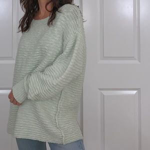 free people chunky mint sweater